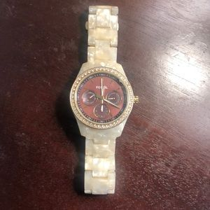 Mother of Pearl fossil watch (needs battery)